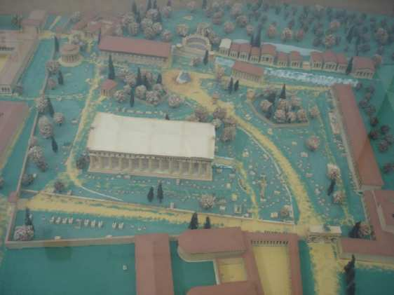 Ancient Olympia model