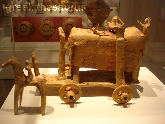 Terracotta model of a wagon