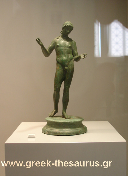Hellenistic age bronze statues images collections from greek museums.