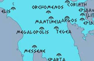 map of ancient greek theaters